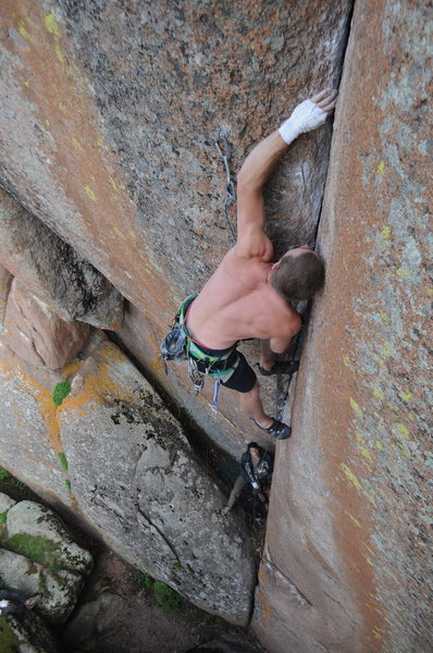 Rock Climbing Photo: The red gyps.