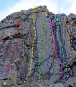 Rock Climbing Photo: Eden Wall routes: