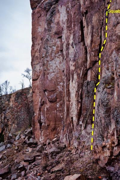 Rock Climbing Photo: Leading Squab