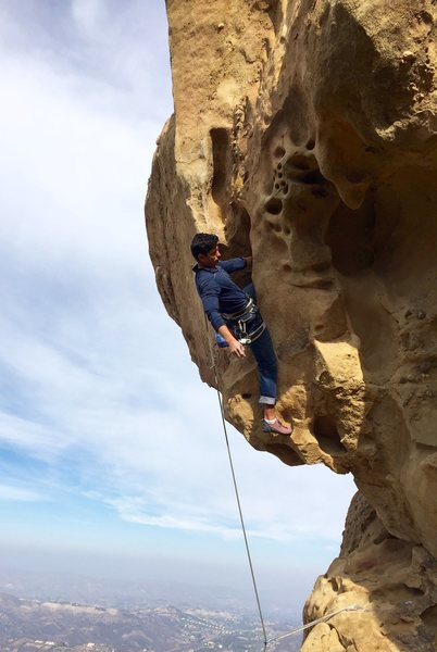 Rock Climbing Photo: Hugo hueco holla