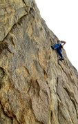 Rock Climbing Photo: Susan smiling on some of the worst rock in the are...