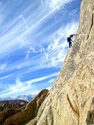 Rock Climbing Photo: Susan slabbing it up