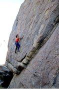 Rock Climbing Photo: Susan on the Original Route