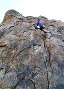 Rock Climbing Photo: Left Hell Crack getting some action