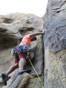 Rock Climbing Photo: Bolt is clipped, and now ready to slay the upper c...
