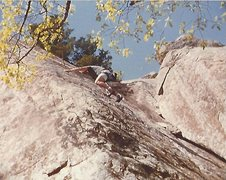 Rock Climbing Photo: Barritt cleaning Foolish behavior (Mike Gaasch lea...