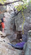 Rock Climbing Photo: Matt with Sarlacc Pit (right) and Lizasaurus (left...