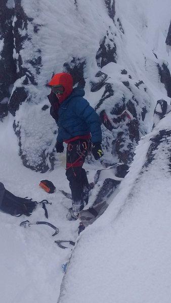 Rock Climbing Photo: Ryan Hoover at the Eldorado Dean Col rappel