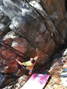 Rock Climbing Photo: Scott on the shared start of Pigeon Foot and Learn...