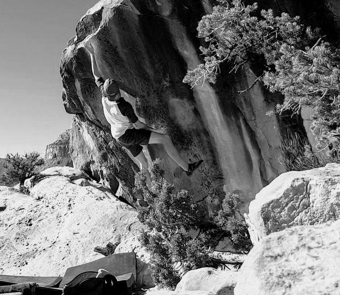 Rock Climbing Photo: Dave Smiley on Pocket Rocket