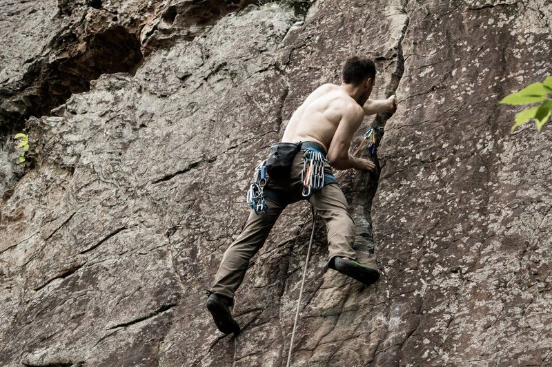 Rock Climbing Photo: Face up to that crack, 8-.