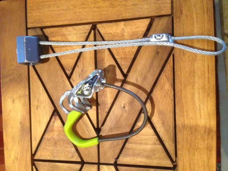 Edelrid mega jul Like new used 2 times $15<br> BD hex $5