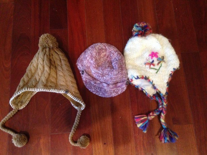 3 women&@POUND@39@SEMICOLON@s hats all like new! $10/each