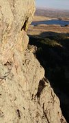 Rock Climbing Photo: Looking back at the well-protected (trad) traverse...