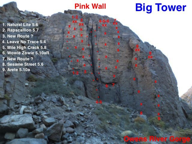 Up date topo for the Pink Wall