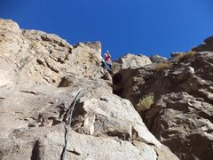 Rock Climbing Photo: Mike Arechiga having fun on, Pee Wee's Playhou...