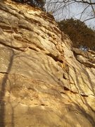 Rock Climbing Photo: Picture taken before the bolts. You can see the to...