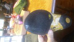 left bottom, minimal regular wear, slight chalk mark will be cleaned off