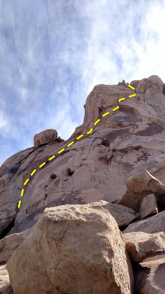 The Vogel Guide (1992) describes climbing the arch as well.