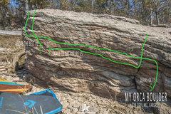 Rock Climbing Photo: My Orca Boulder