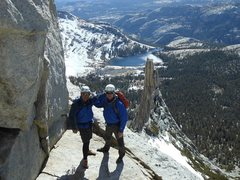 Rock Climbing Photo: Dad & Bob Wallace on top of Cathedral Peak