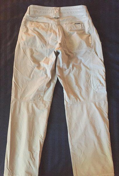 Rock Climbing Photo: Khaki pants, rear