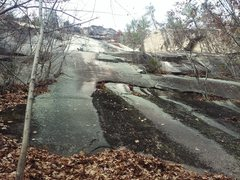 Rock Climbing Photo: White Ledge Main Wall. The toe/flake of Old Route ...