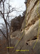 Rock Climbing Photo: Photo taken of the start before bolts were placed