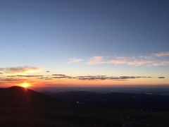 Mount Audubahn, Sunrise over Loveland, CO 2016