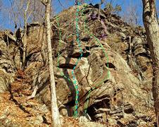 Rock Climbing Photo: Romance Novels - main face from SSW: E. The Hidden...