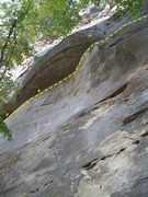 Rock Climbing Photo: Hail of a Traverse: climb right to left, slab to r...