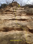Rock Climbing Photo: Rock Face before bolts