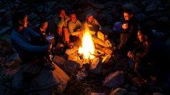Rock Climbing Photo: Love that campfire