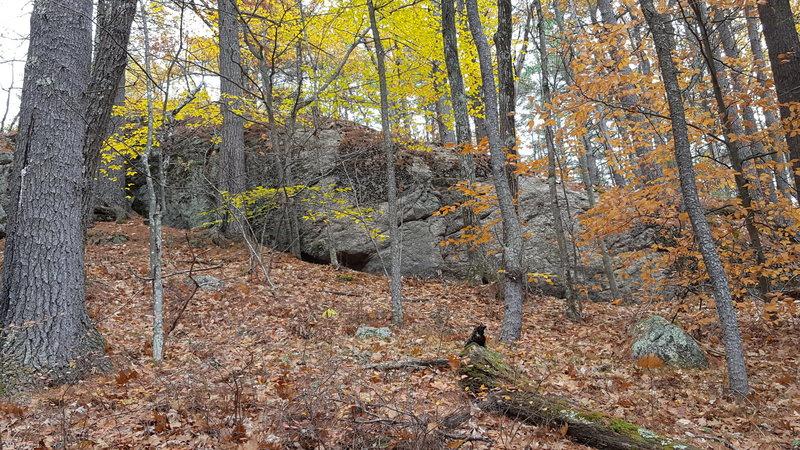 Rock Climbing Photo: The Eyebrow Crag. This crag was clean and establis...