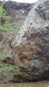 Rock Climbing Photo: Overboard, sit start