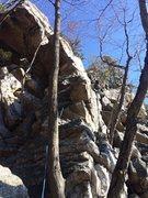 Rock Climbing Photo: Pete on Cordelette Arete!