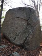 Rock Climbing Photo: Looking south at Vortex Boulder. Rock On is on the...