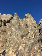 Rock Climbing Photo: Aubrey left her little one at the base of the Craw...