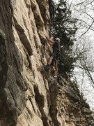 Rock Climbing Photo: Marcus Floyd placing bolts.