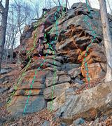 Rock Climbing Photo: Adventure Stories - main face from SE: E. Good Sol...
