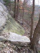 Rock Climbing Photo: Bonus: Nice belay ledge or seat for switching shoe...