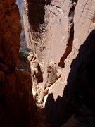 Rock Climbing Photo: one of the chimney sections (with bit of 4th at th...