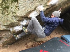 Rock Climbing Photo: Messing around with some beta for feet...