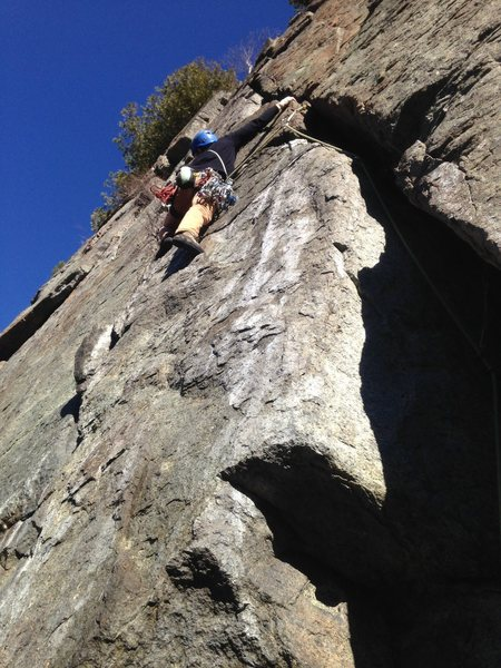 Rock Climbing Photo: Pier-Olivier Moreau on Pitch 2