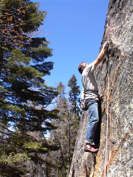 Rock Climbing Photo: Mike Arechiga on, Second Thought. 5.9