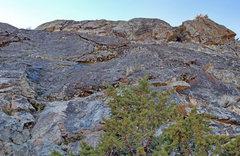 Rock Climbing Photo: Gastlosen sector 0: low slab Left side