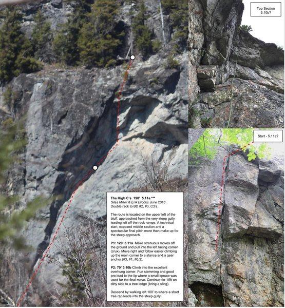 Rock Climbing Photo: Topo of The High C's