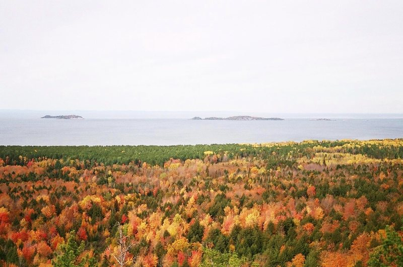 Lake Superior and the Huron Islands NWR from Lunta's Lookout