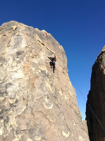 Rock Climbing Photo: Maya Becchio, 8 yrs. old sending Tootsie Pop