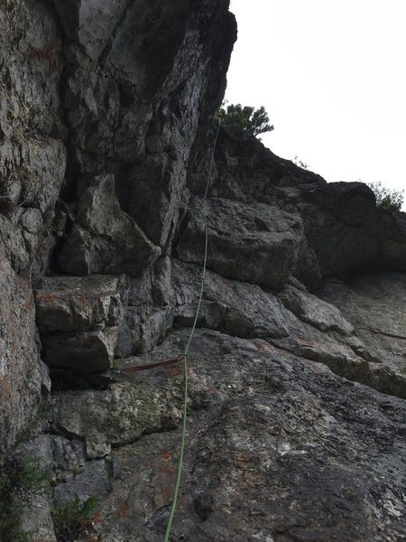 Rock Climbing Photo: The second pitch after Erik sent the FA